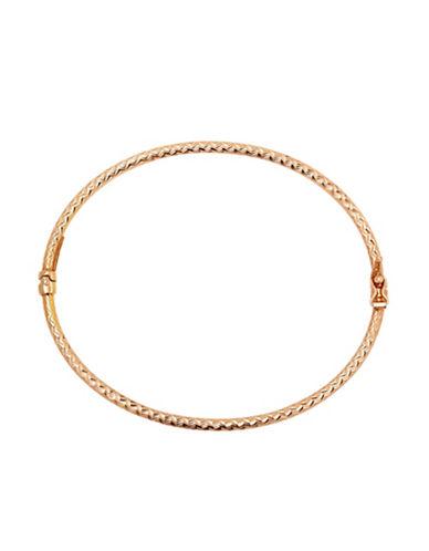 Lord & Taylor 14Kt. Rose Gold Rope Bangle Bracelet