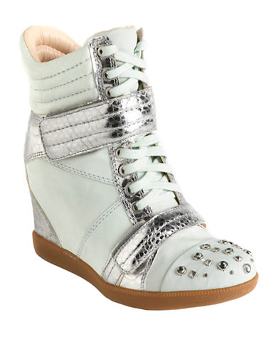 BOUTIQUE 9 Nevan Leather Wedge Sneakers