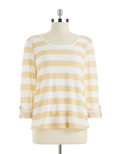 SANCTUARY FEMME Striped Knit Tee
