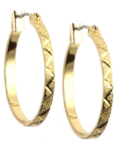 12 Kt Gold Plated Hoop Earrings