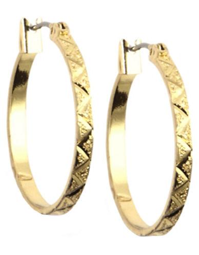 12 Kt Gold Plated Hoop Earrings