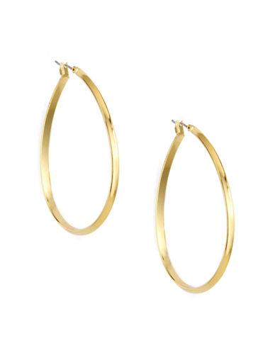 ANNE KLEINGold Plated Pear-Shaped Hoop Earrings