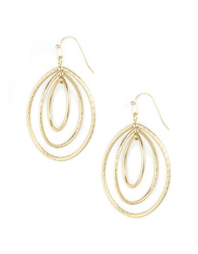 ANNE KLEINGold-Tone Oval Drop Earrings
