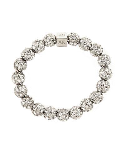 ANNE KLEINSilver-Plated Crystal Fireball Stretch Bracelet