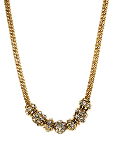 Anne Klein Chain Link and Bead Necklace