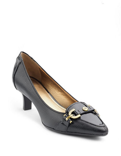 CIRCA JOAN & DAVID Prvue Lizard-Embossed Leather Pumps