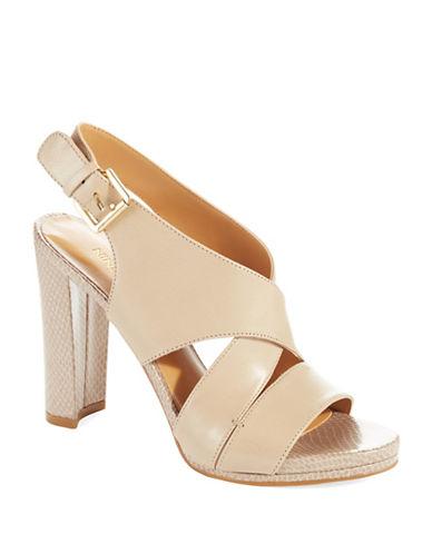 NINE WESTWade Leather Pump Sandals
