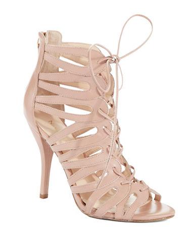 NINE WESTKenie Lace-Up Leather Sandals