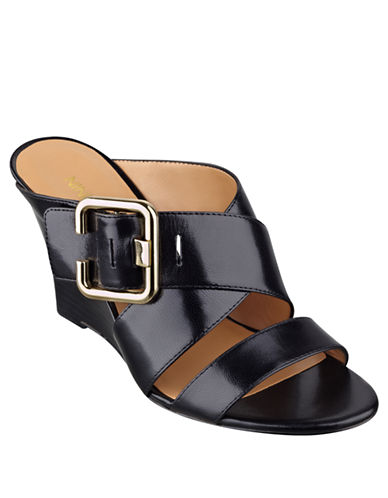 NINE WEST Campolina Leather Wedge Sandals