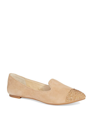 ENZO ANGIOLINIEmbellished Suede Loafers