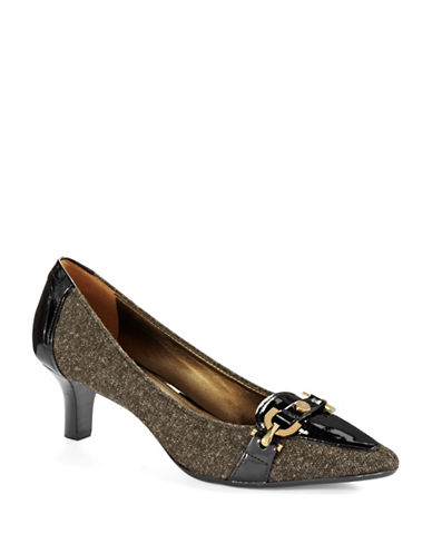 CIRCA JOAN & DAVID Prvue Embellished Fabric Pumps