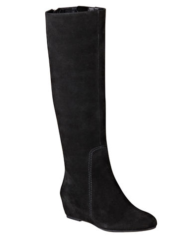 NINE WEST Myrtle Suede Wedge Boots