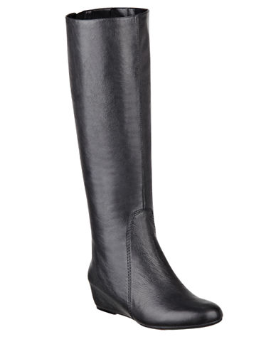 NINE WEST Myrtle Leather Wedge Boots