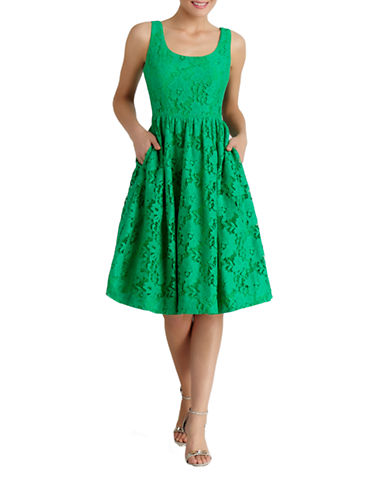 Shop Donna Morgan online and buy Donna Morgan Floral Lace Fit and Flare Dress dress online