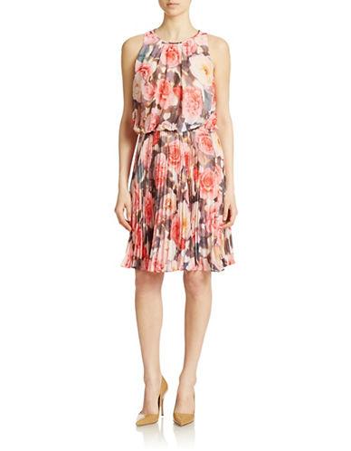 MAGGY LONDONFloral Print Blouson Dress
