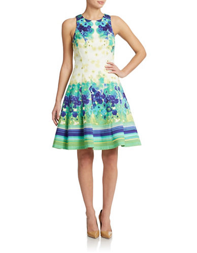 Shop Maggy London online and buy Maggy London Mixed-Print Fit-and-Flare Dress dress online