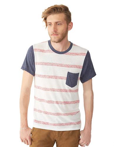 ALTERNATIVEKennedy Stripe Colorblock Pocket T-Shirt