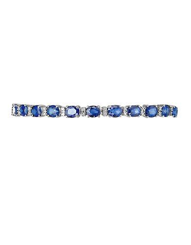 EFFYRoyale Bleu Sapphire Bracelet with Diamonds in 14 Kt. White Gold