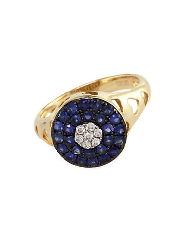 EFFY Sapphire and Diamond Accent Ring in 14 Kt. Yellow Gold