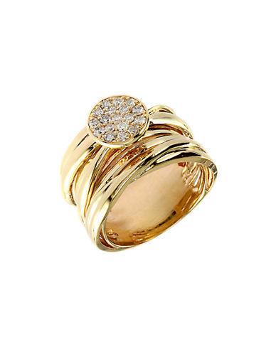 EFFY Diamond And 14K Yellow Gold Stacked Ring