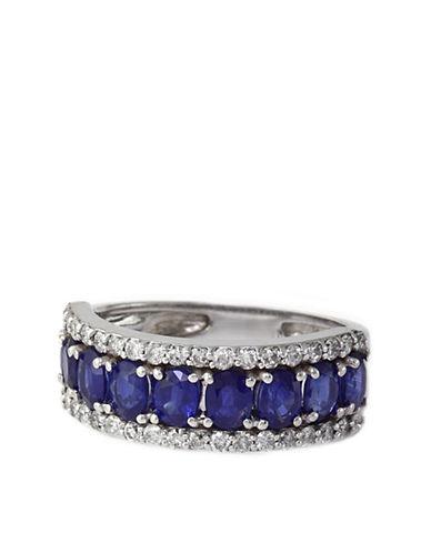 EFFYRoyale Bleu Sapphire and Diamond Ring in 14 Kt White Gold