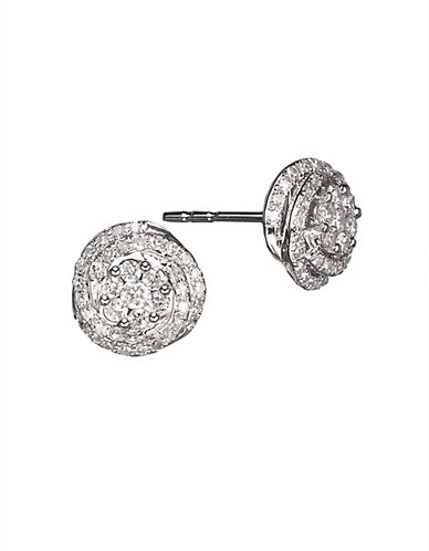 EFFY Diamond And 14K White Gold Stud Earrings, 0.66 TCW