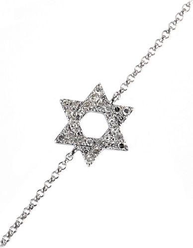EFFY14Kt White Gold Diamond Jewish Star Bracelet