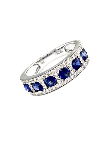 EFFYRoyale Bleu 14K White Gold Sapphire and Diamond Ring