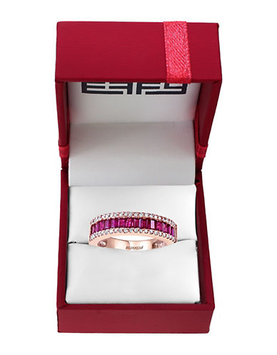 EFFY Amore Diamond, Ruby and 14K Rose Gold Ring