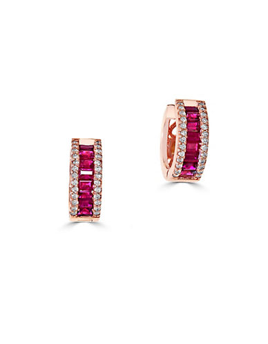 EFFY Amore Diamond, Ruby and 14k Rose Gold Earrings