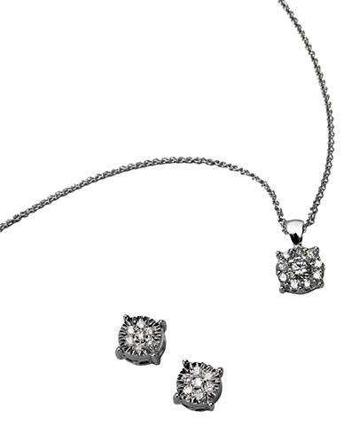 EFFY Classique 14Kt. White Gold Diamond Pendant Necklace