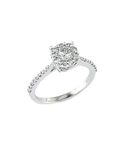 EFFYBouquet 14 Kt. White Gold Diamond Cluster Ring