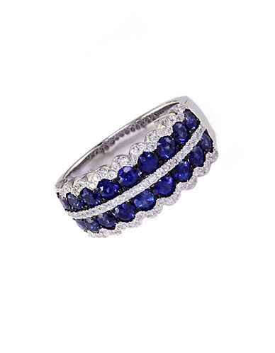 EFFY Royale Bleu 14 Kt. White Gold Sapphire and Diamond Ring