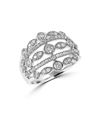 EFFY Diamond and 14K White Gold Open Ring, 0.88TCW