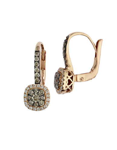 EFFYEspresso 14 Kt Yellow Gold and 0.62 ct t w Brown Diamond J Hoop Earrings