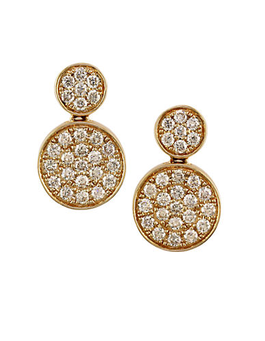 EFFY Trio 14Kt Yellow Gold and Diamond Drop Earrings