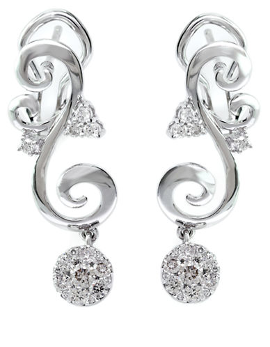 EFFY Bouquet 14 Kt White Gold and Diamond Drop Earrings