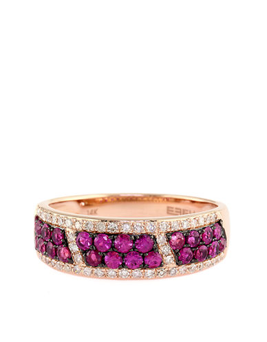 EFFY Diamond And Ruby 14K Rose Gold Ring