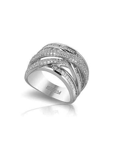 EFFYClassica 14K White Gold Pave Diamond Ring