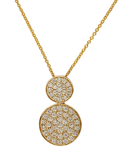 EFFY Trio 14Kt Yellow Gold and Diamond Pendant Necklace