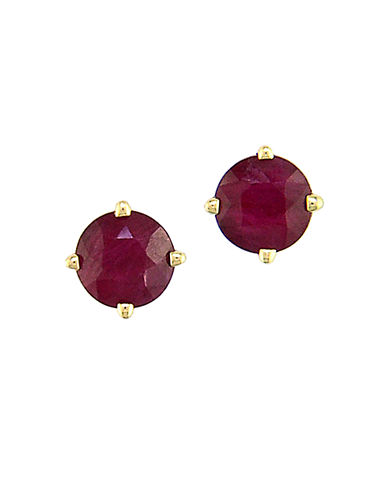 EFFY Ruby And 14K Yellow Gold Stud Earrings