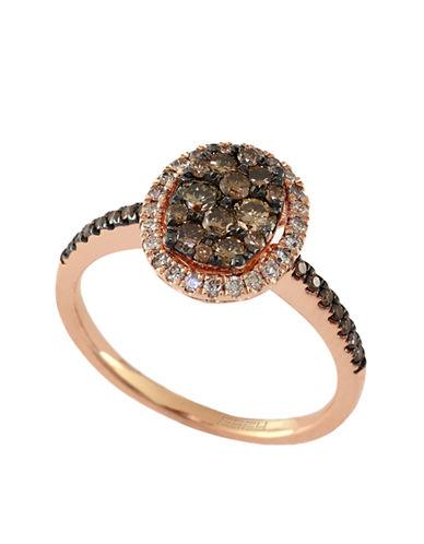 EFFYEspresso 14Kt. Rose Gold & Brown Diamond Oval Ring