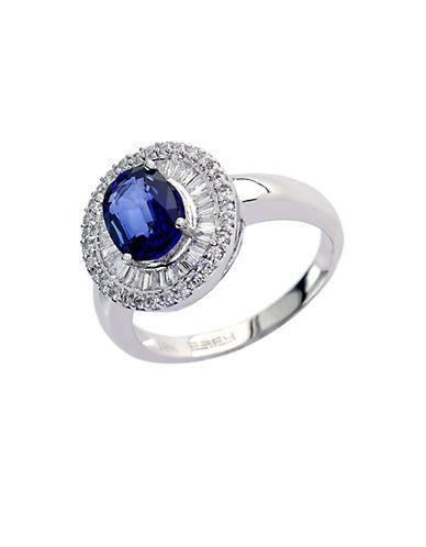 EFFYVelvet Bleu 14Kt. White Gold Ceylon Sapphire & Diamond Ring