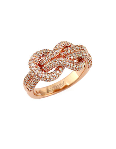 EFFY14Kt Rose Gold and Diamond Knot Ring