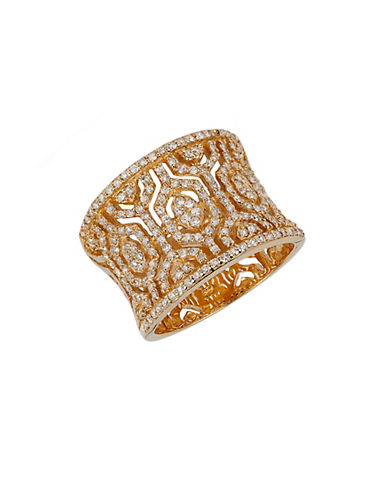 EFFY Diamond And 14K Yellow Ring, 0.79 TCW