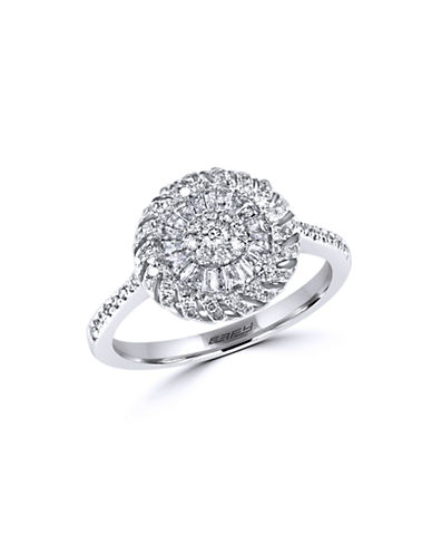EFFY Diamond and 14K White Gold Medallion Ring