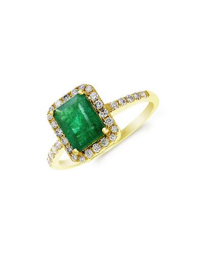 EFFYRed Box Gallery 14K Yellow Gold Emerald Ring