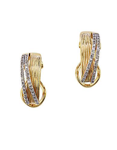 EFFYDiamond And 14K Yellow Gold Earrings