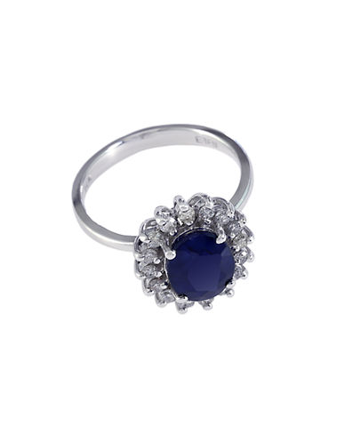 EFFY Royalty 14Kt. White Gold Sapphire and Diamond Ring