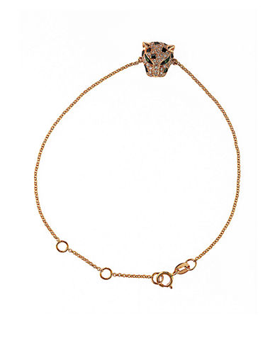EFFYSignature 14Kt Rose Gold Diamond and Tsavorite Panther Bracelet